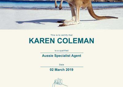 Aussie Specialist certificate