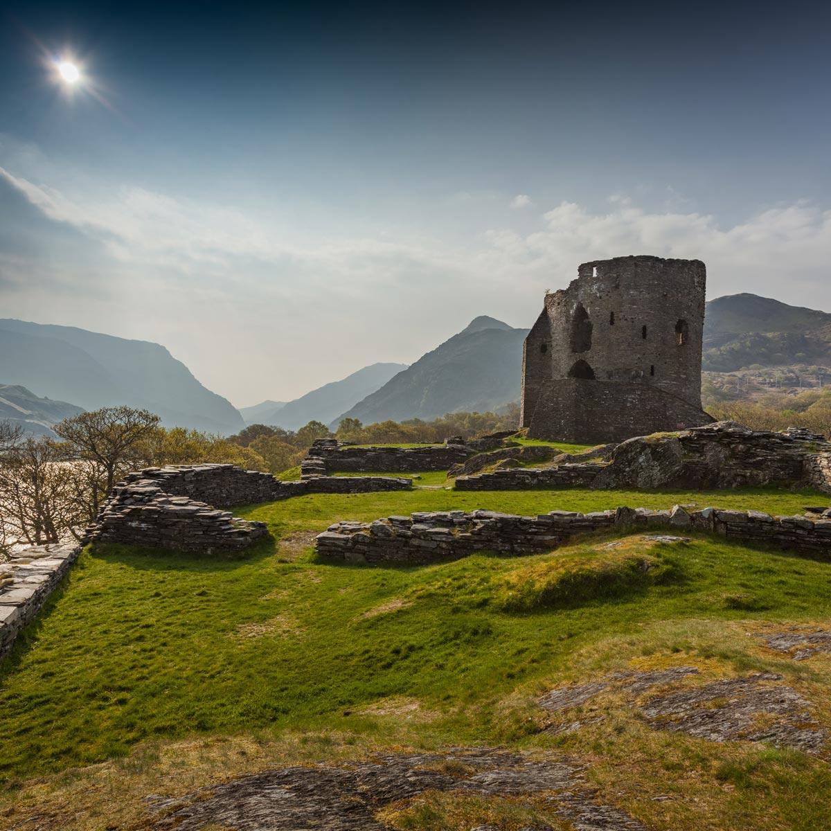 Castle ruins in Snowdonia, Wales