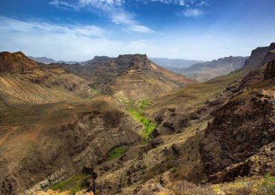 Mountains and gorge in Gran Canaria