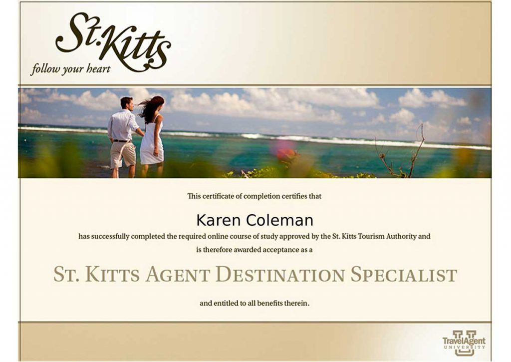 St. Kitts Agent Destination Specialist Certification