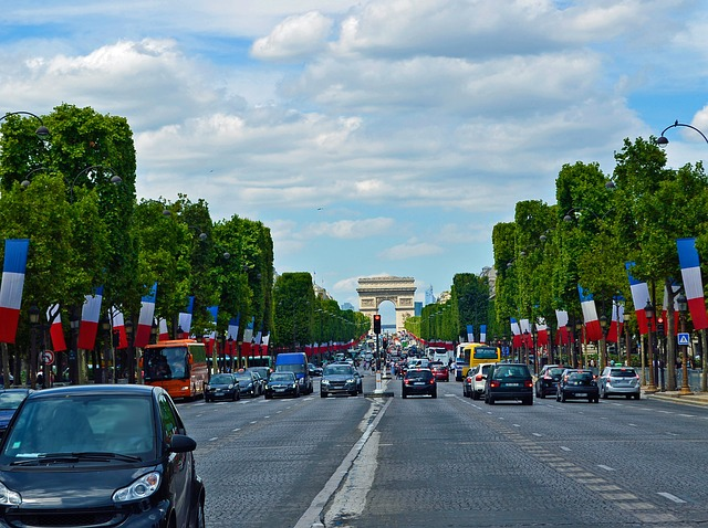 Driving in Paris, France