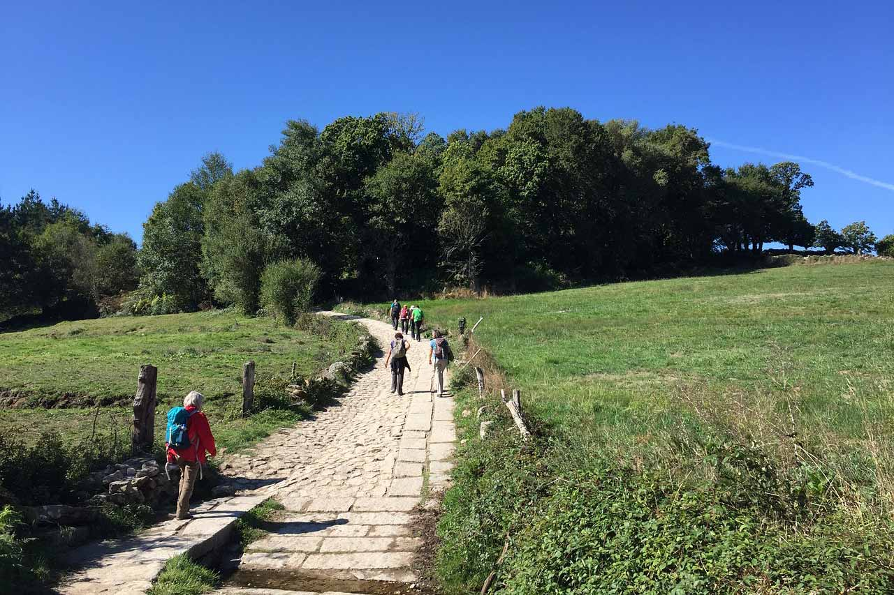 Where in the World pic 3 - hikers on the Camino de Santiago