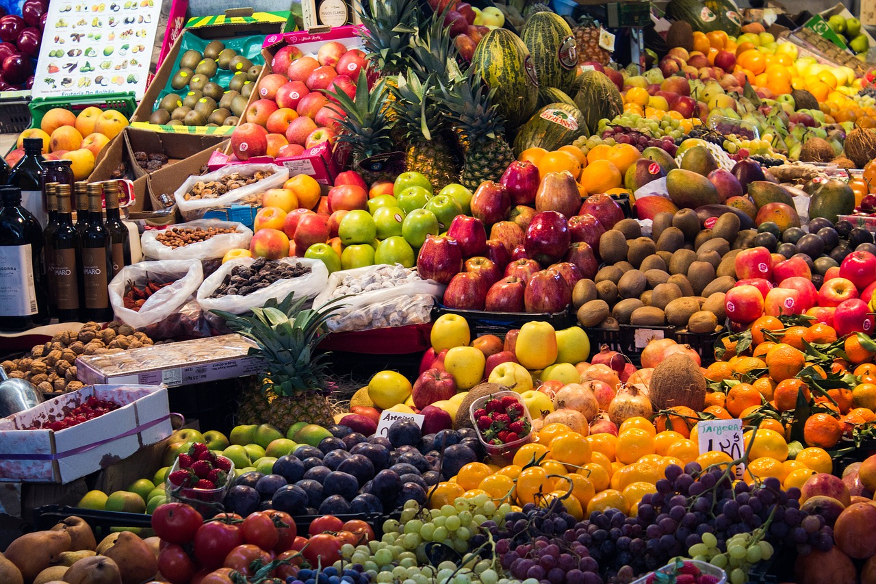 Fruit stall at a market, Mystical Morocco, Africa, WOW 2020