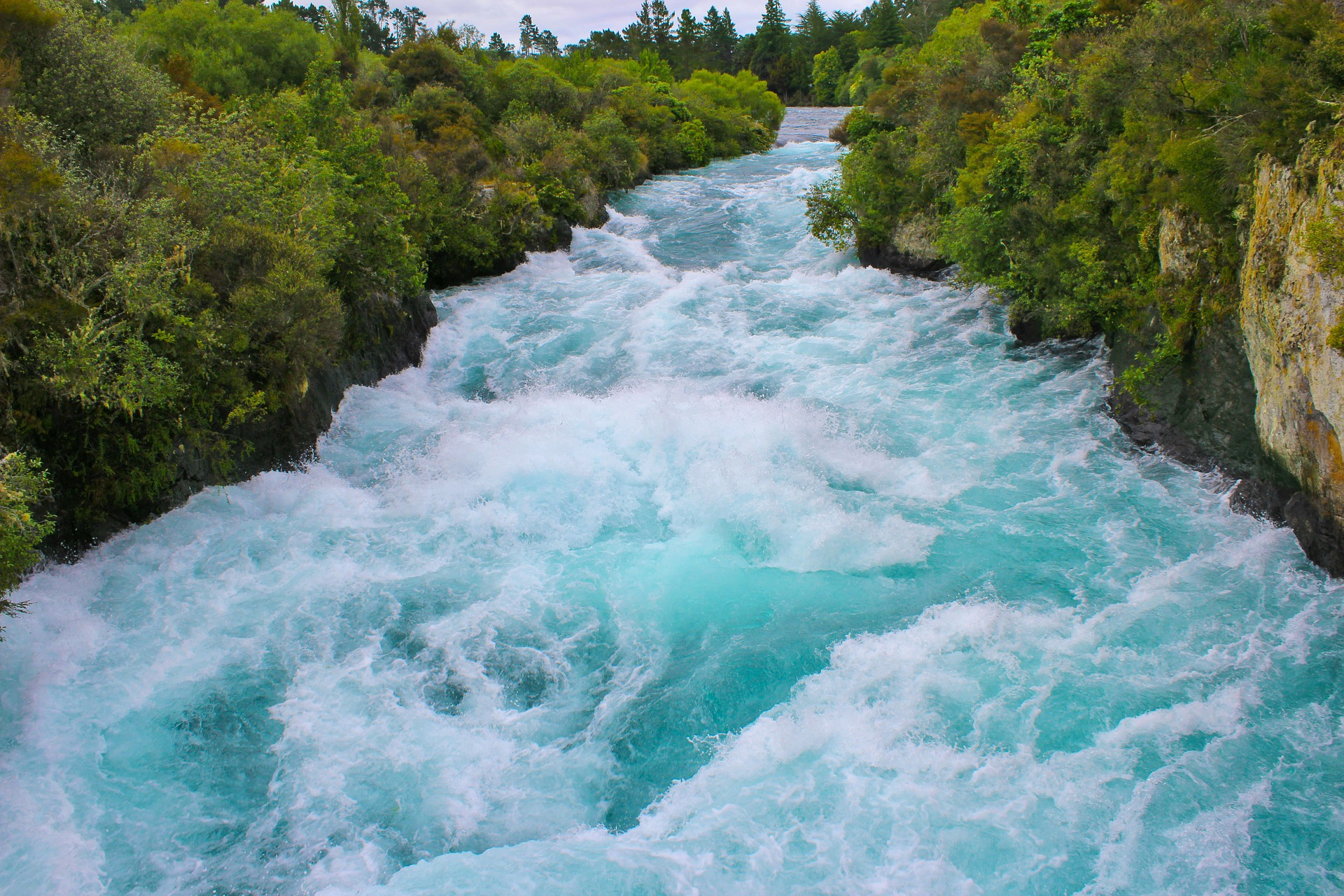 Waikato River, Huka Falls, New Zealand