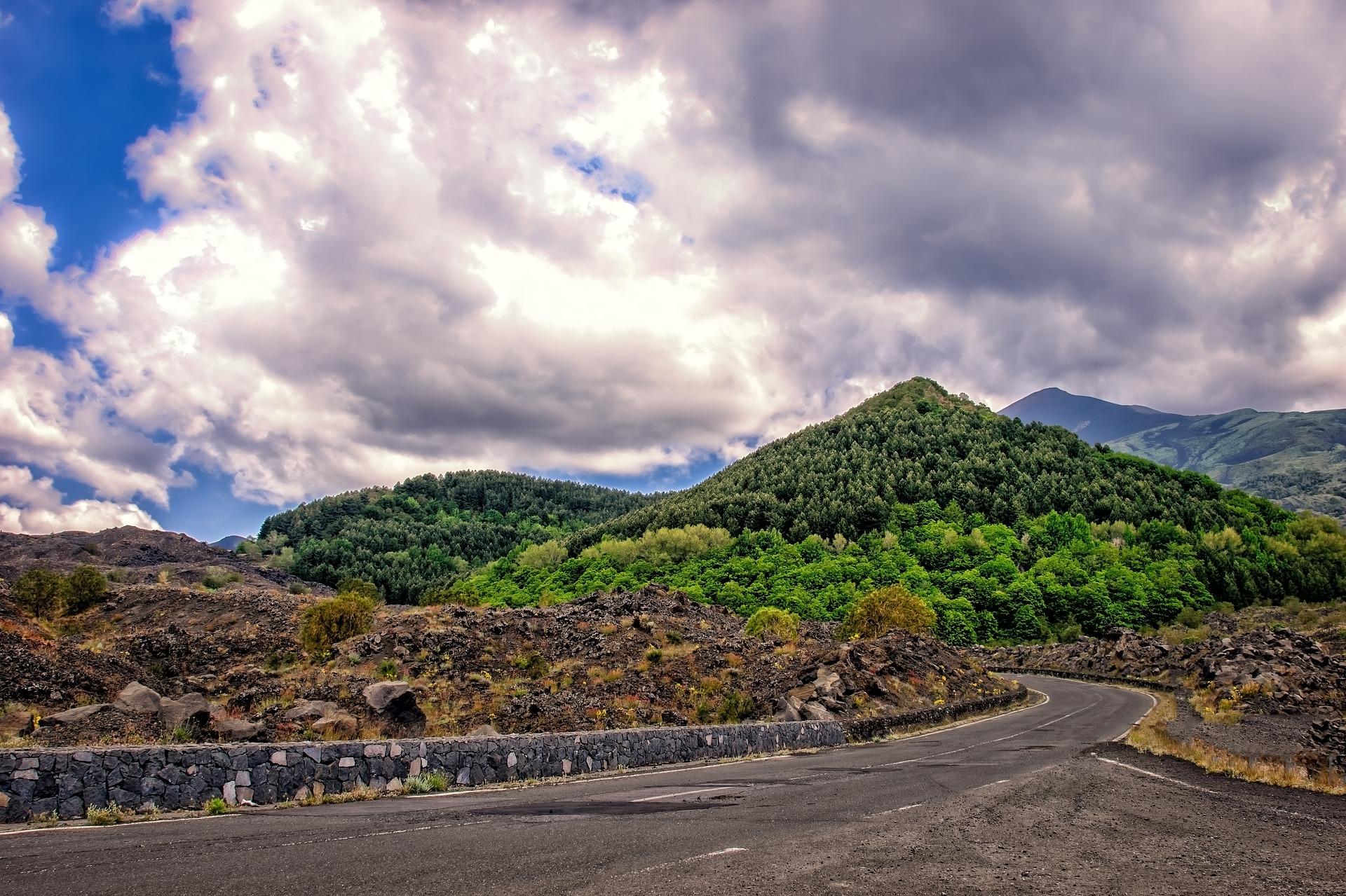 Mount Etna road. Photo via Pixabay.