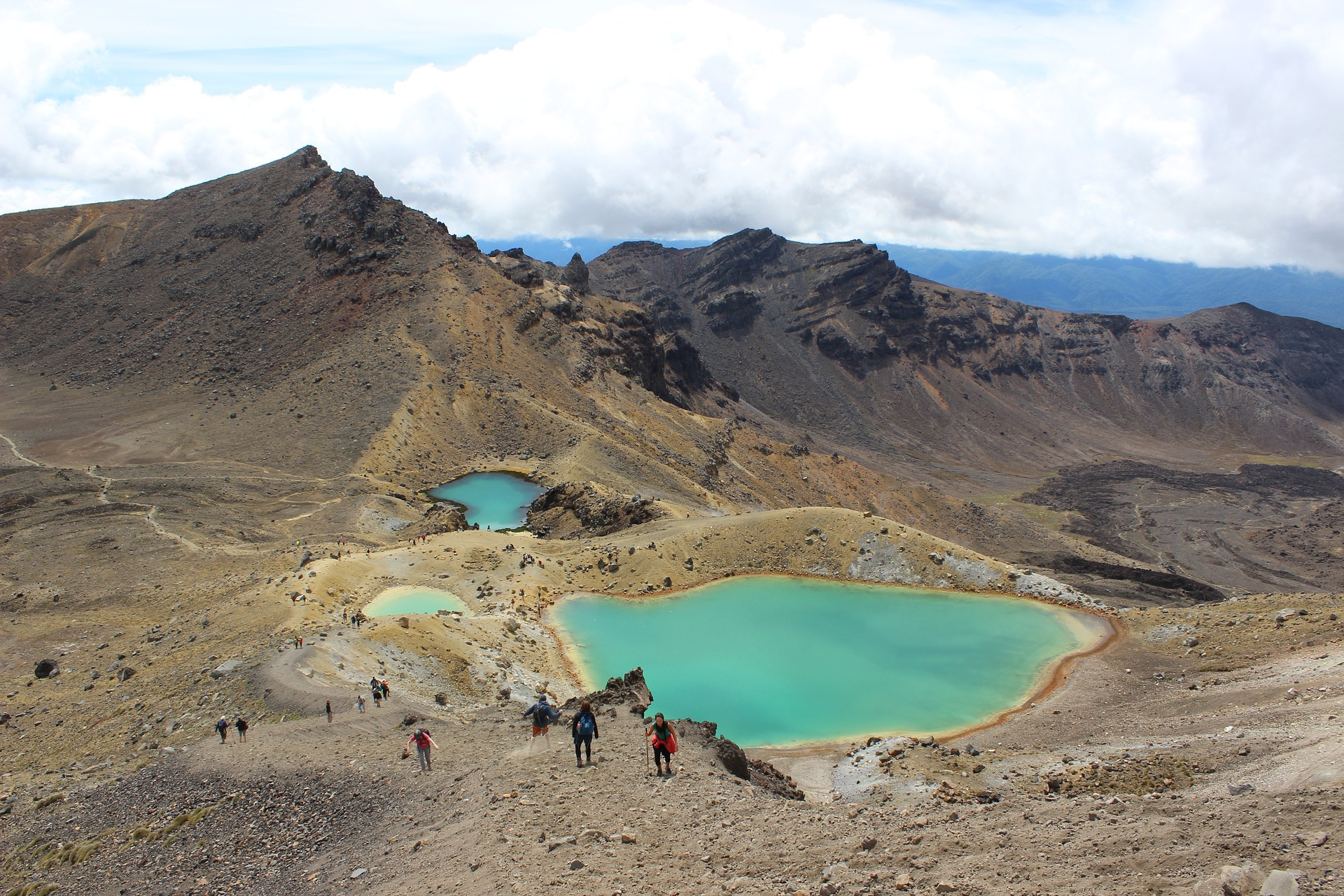 Emerald Lakes at Tongariro Alpine Crossing, New Zealand