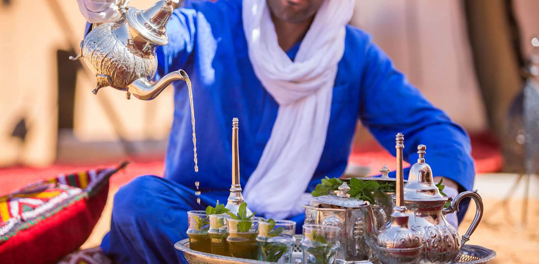 Tea at luxury Camp Merzouga, Mystical Morocco, Africa, WOW 2020