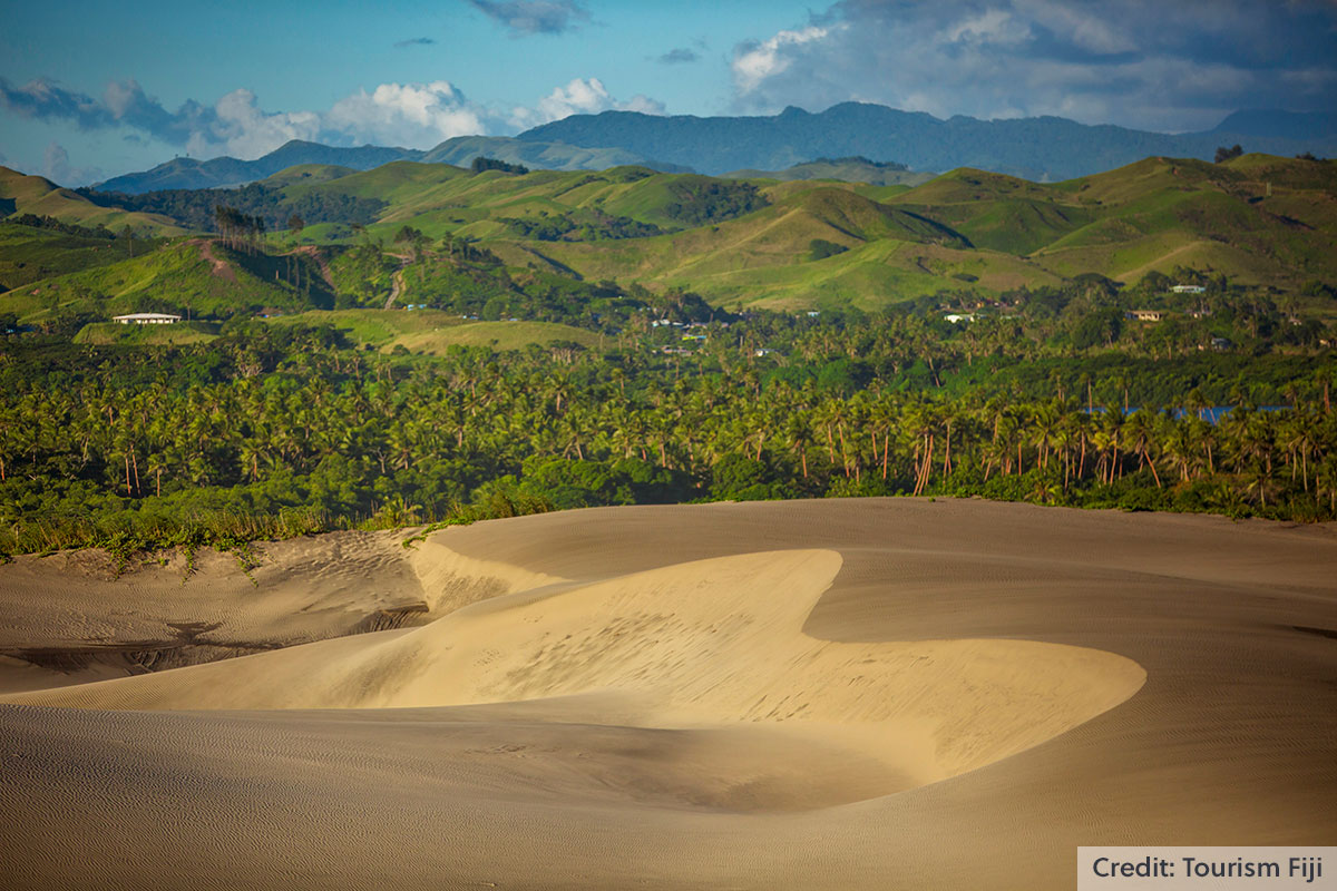 Mountains and Sigatoka Sand Dunes Coral Coast, Fiji