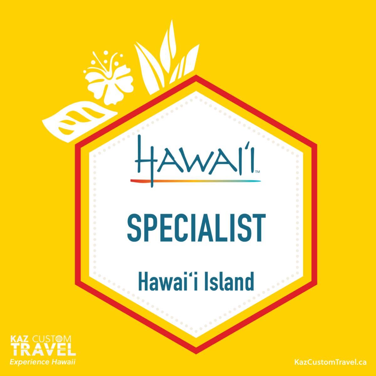 Hawaii Island Specialist Badge