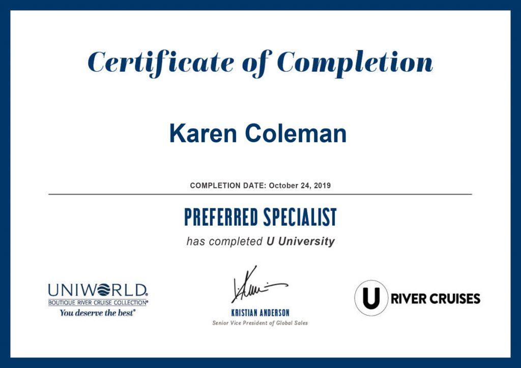 U Cruises University Preferred Specialist