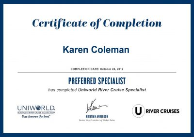 Uniworld River Cruise Specialist Certification