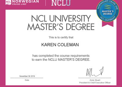Norwegian Cruise Line Certification