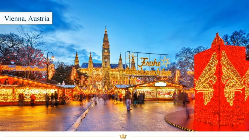 Beautiful Christmas Market in Vienna, Austria