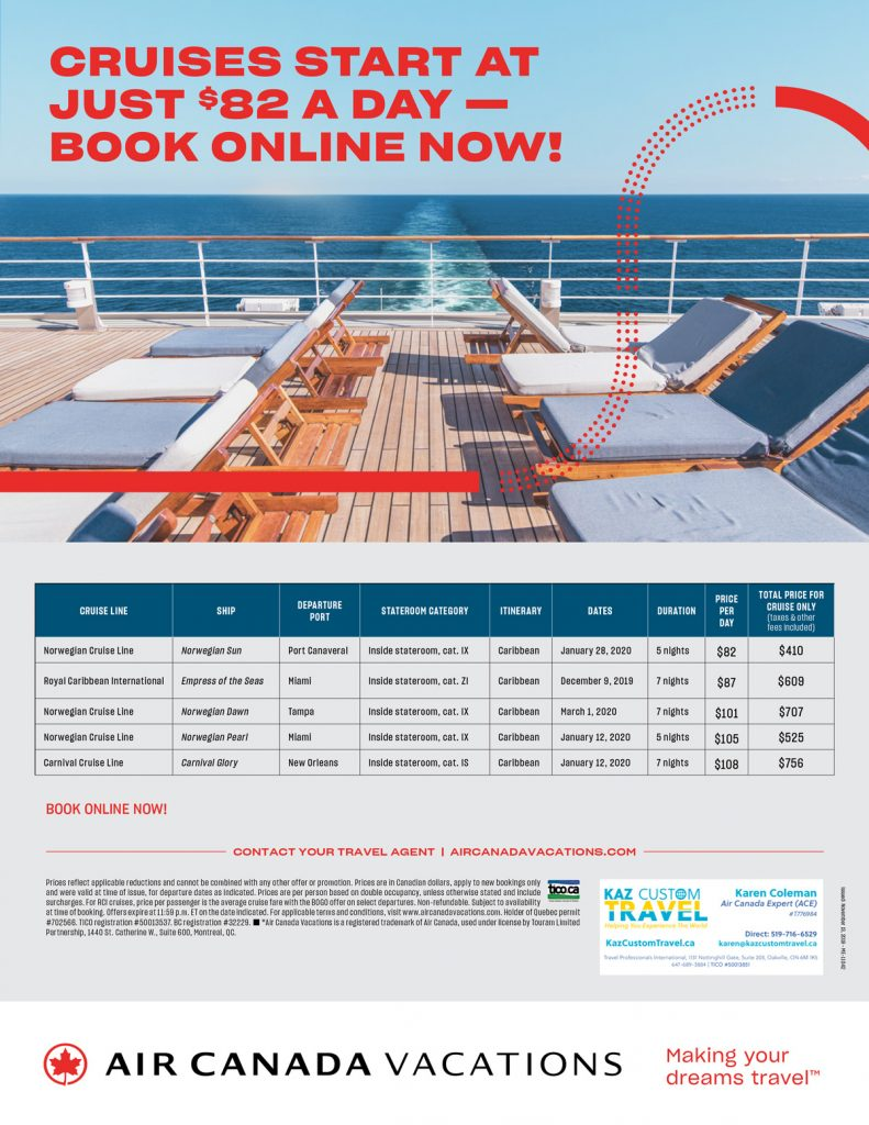 January 2020 Caribbean Cruises Starting at Just $82 a Day