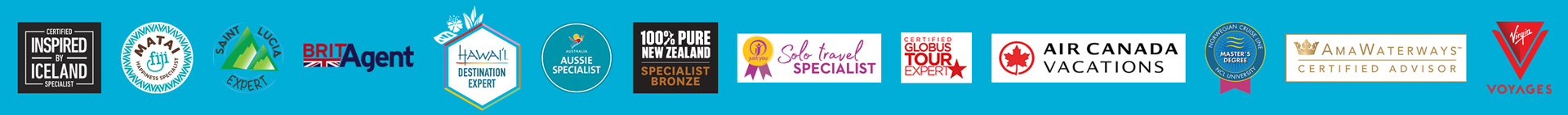 Desitination Specialties, Travel Supplier Certifications, Preferred Travel Partners