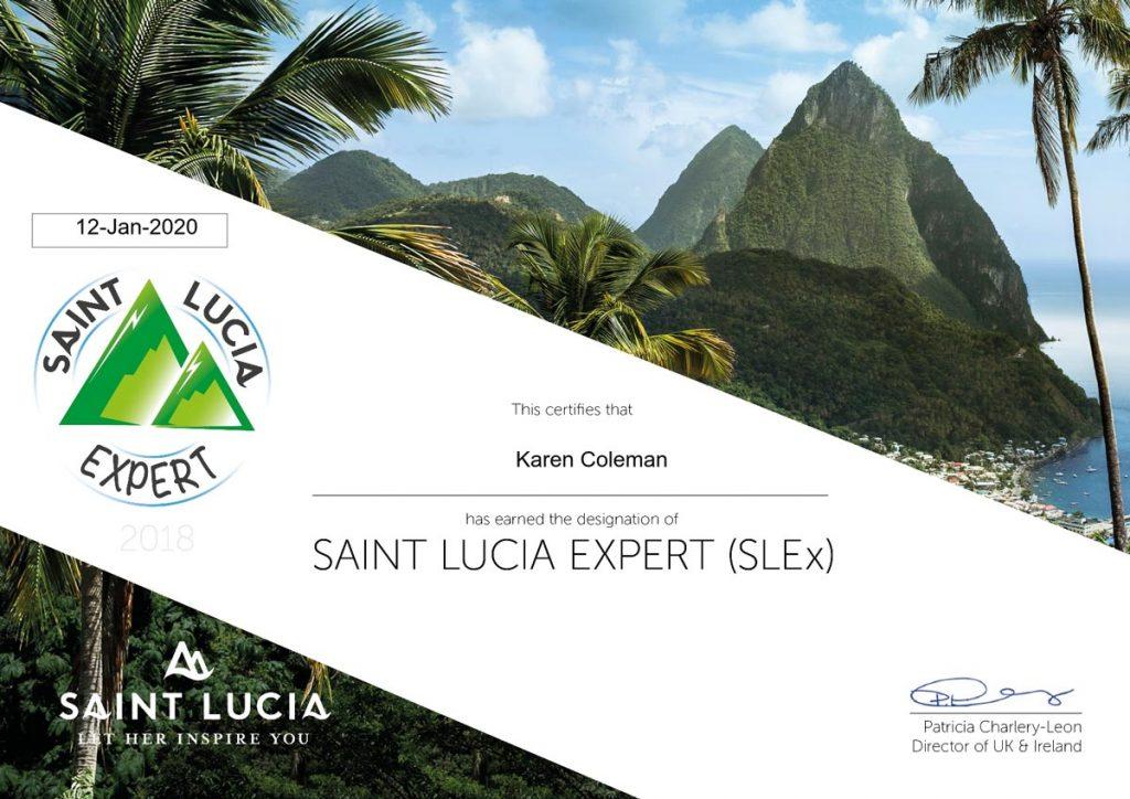 Saint Lucia Certification - Saint Lucia Expert (SLEx) Certificate