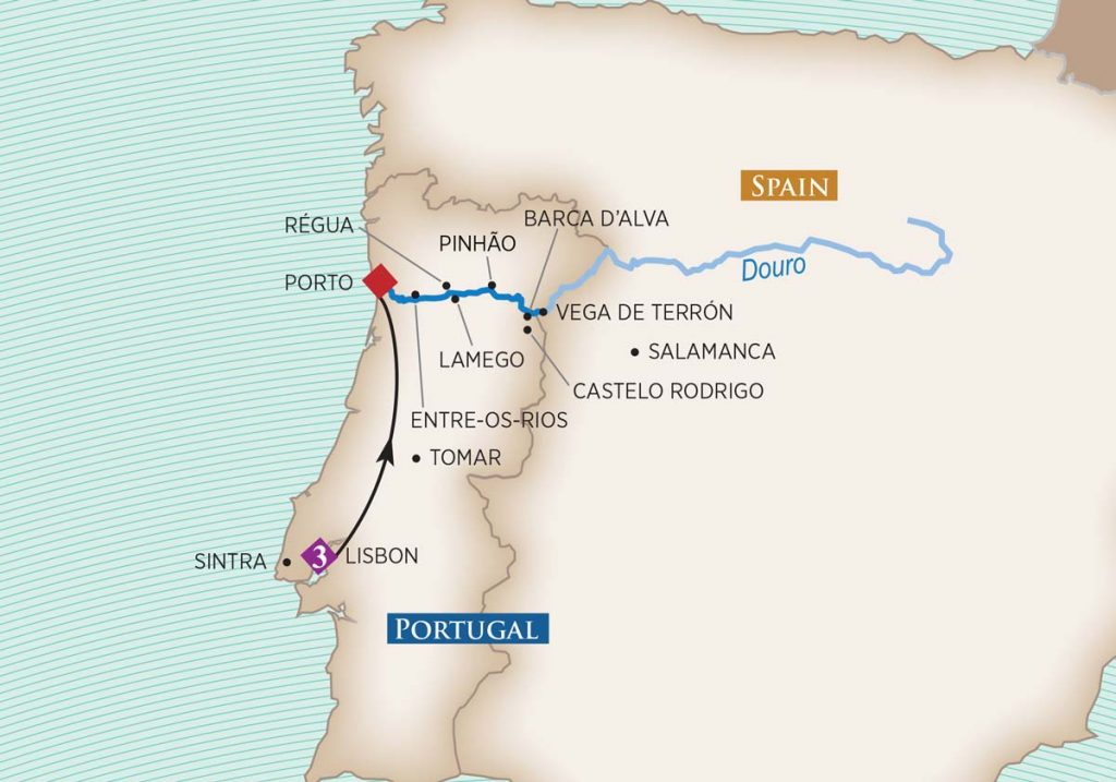 Enticing Douro River Cruise map
