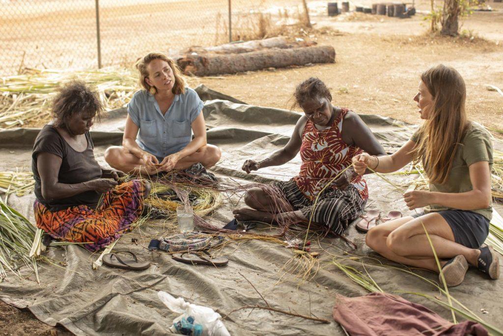 Aboriginal weaving experience Kakadu, Northern Territory, Australia