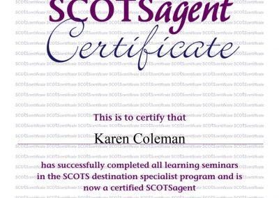 SCOTS Destination Specialist Certificate