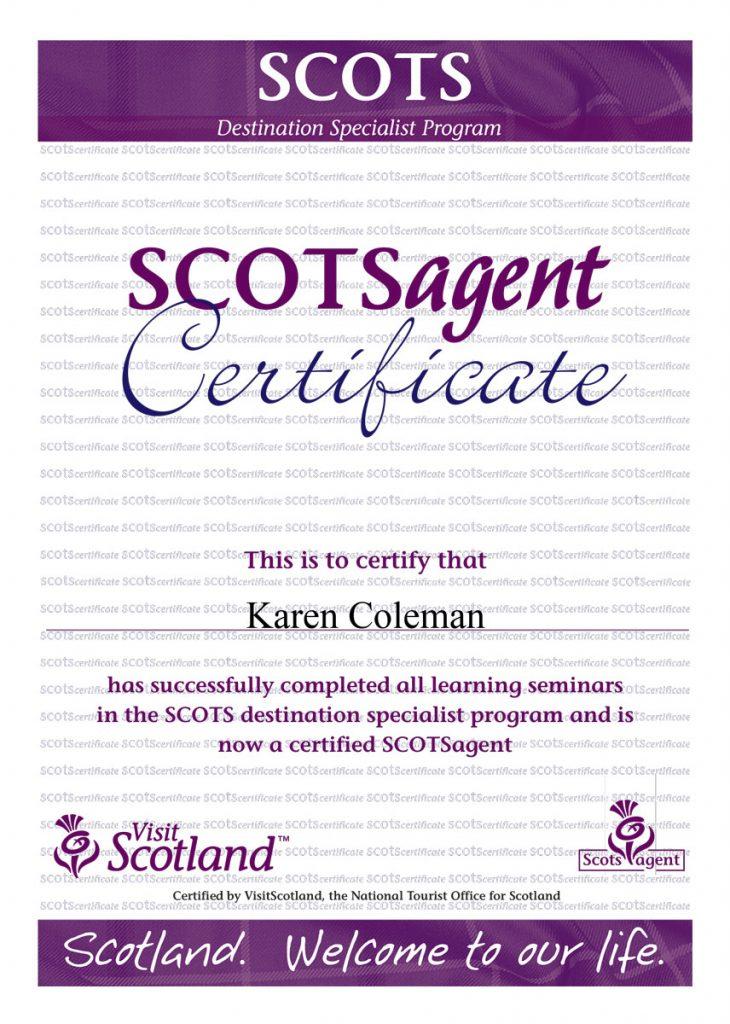 SCOTSagent Certificate