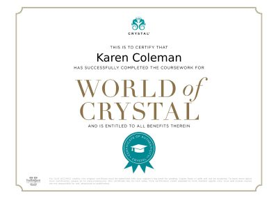Crystal Cruises Specialist Certification