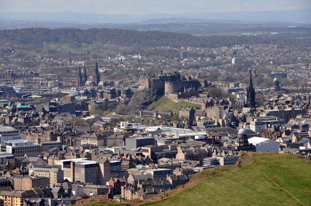 Edinburgh from Holyrood Park