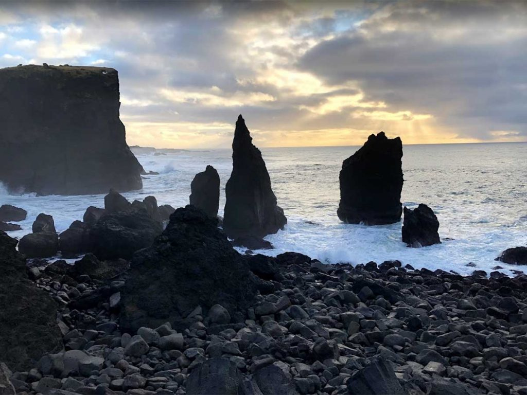 Rock Stacks at Valahnúkamöl, Iceland