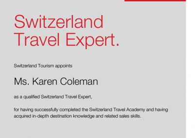Switzerland Travel Expert Certification