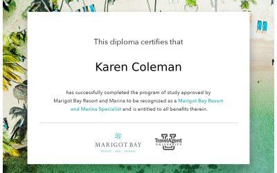 Marigot Bay Resort and Marina Specialist Certification