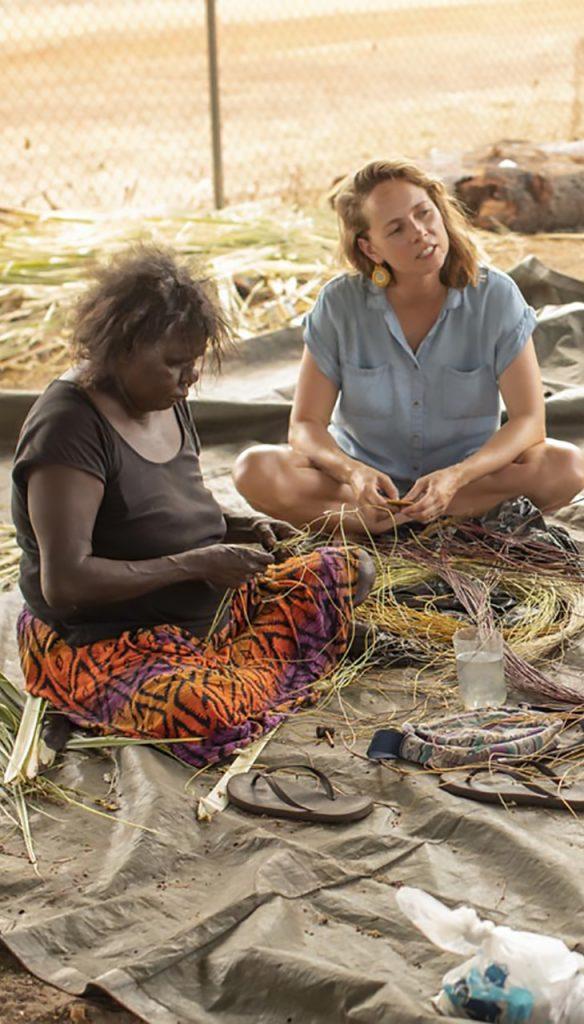 Aboriginal Weaving in Kakadu, NT, Australia