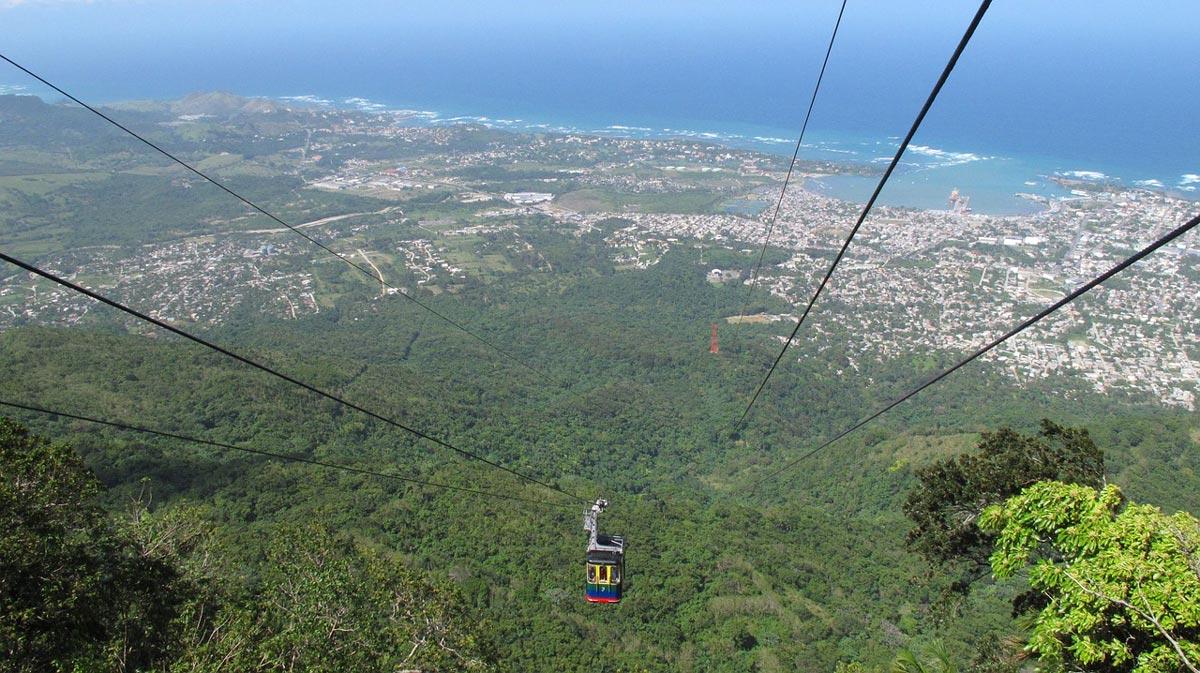 Cable Car Ride Mount Isabel de Torres overlooking Puerto Plata