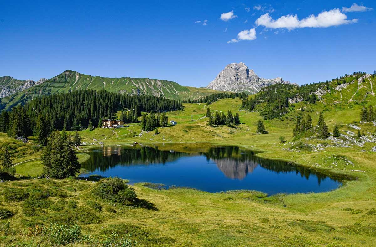 Korbersee, the Arlberg, Austria