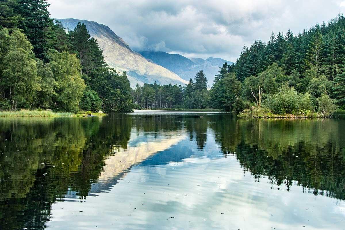 Loch Leven near Glencoe, in the Highlands of Scotland.
