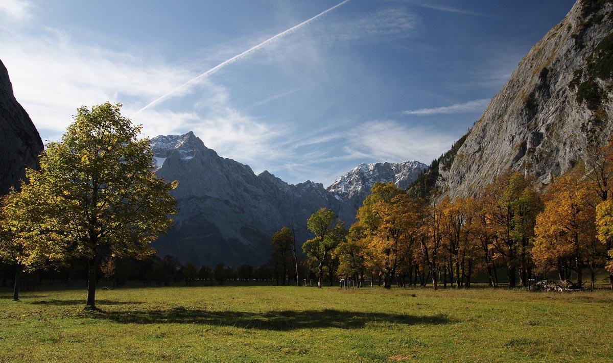 Mountain landscape near Innsbruck Austria