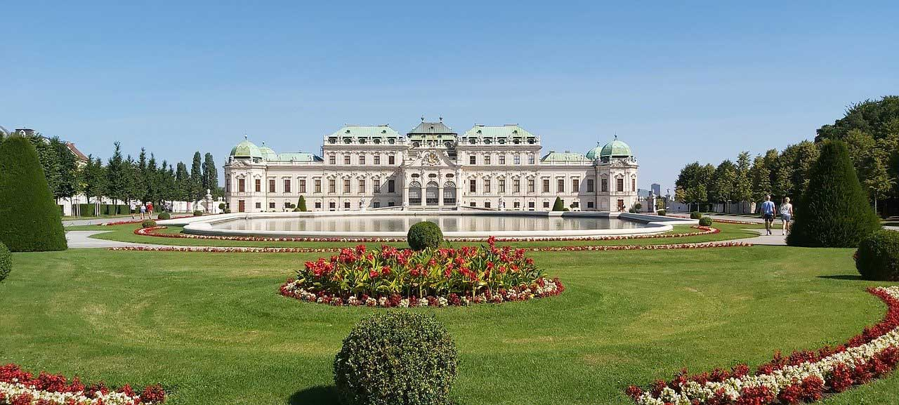 Schönbrunn Palace, Vienna with its beautiful baroque architecture and immaculate gardens