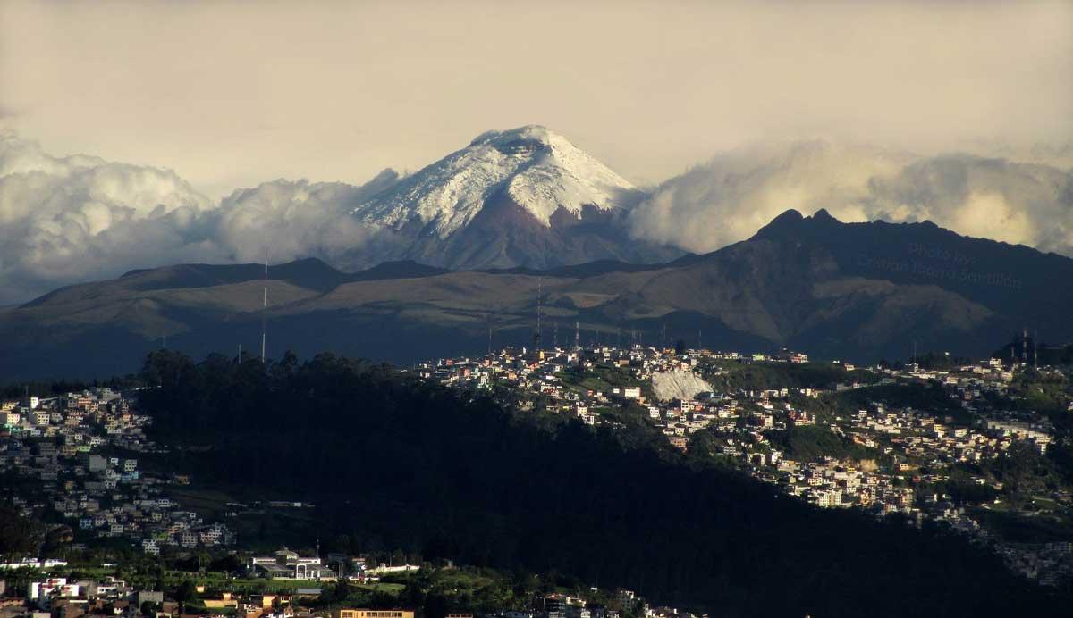 Quito with Pichincha volcano