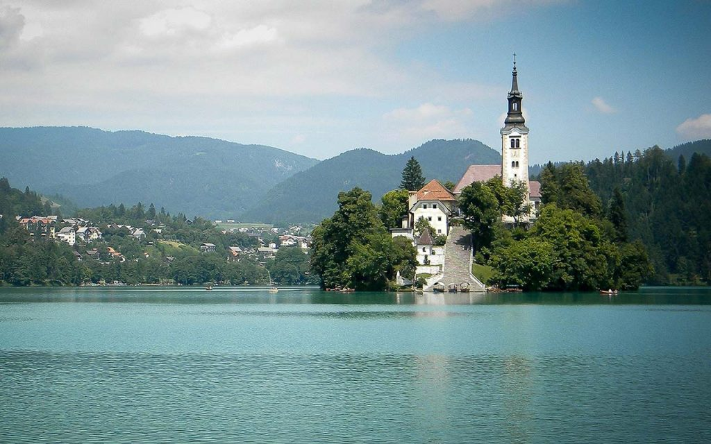 Church of the Mother of God on the Lake, Lake Bled Island Slovenia