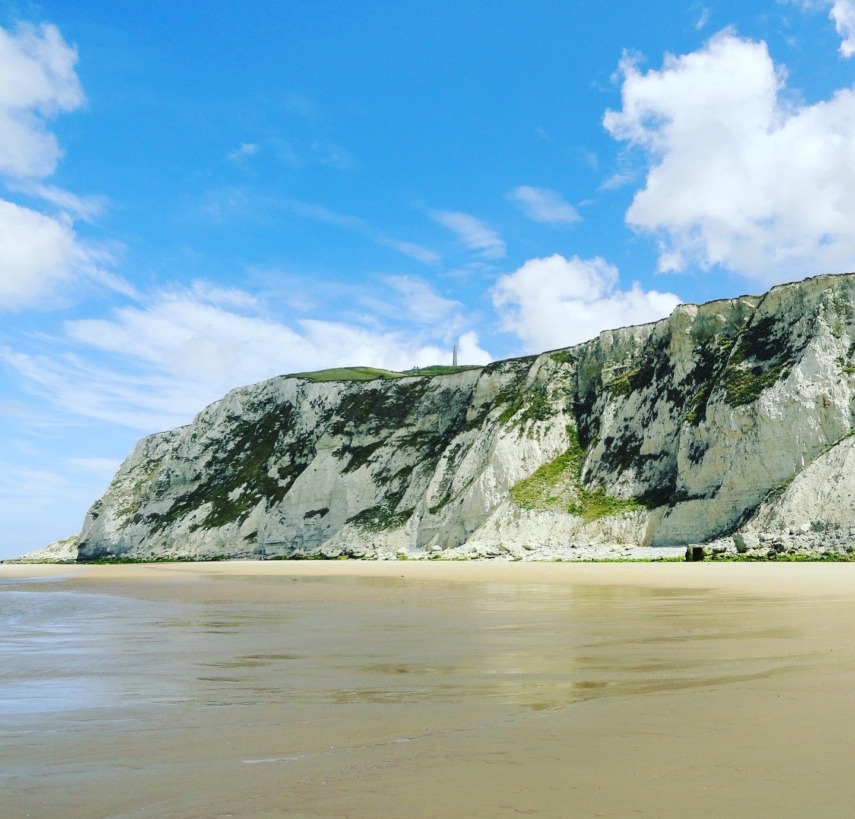 Beach and Chalk Cliffs, Côte d'Albâtre, Normandy, France