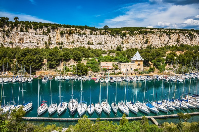Calanques located between Marseille and Cassis in southern France