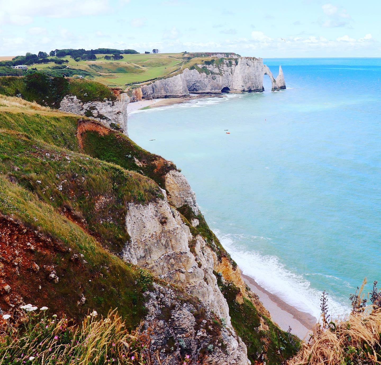 Chalk Cliffs Côte d'Albâtre, Normandy, France