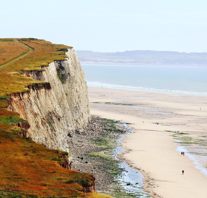 Chalk Cliffs of Côte d'Albâtre, Normandy, France