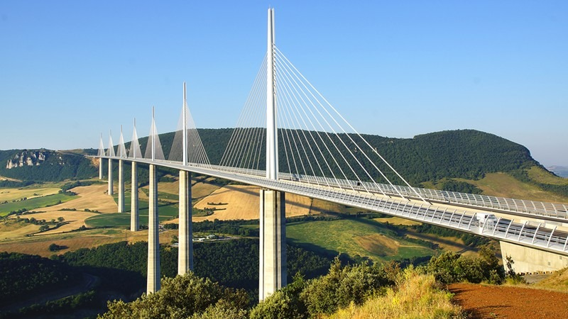 Millau Viaduct in France, the tallest in the world