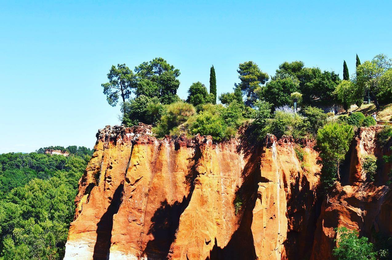 Rocky outcrop Roussillon France