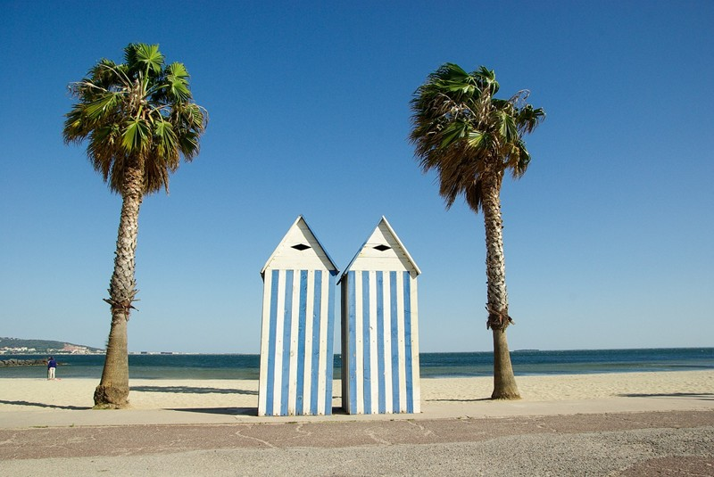 Beach huts for two Sète on France's Mediterranean coast