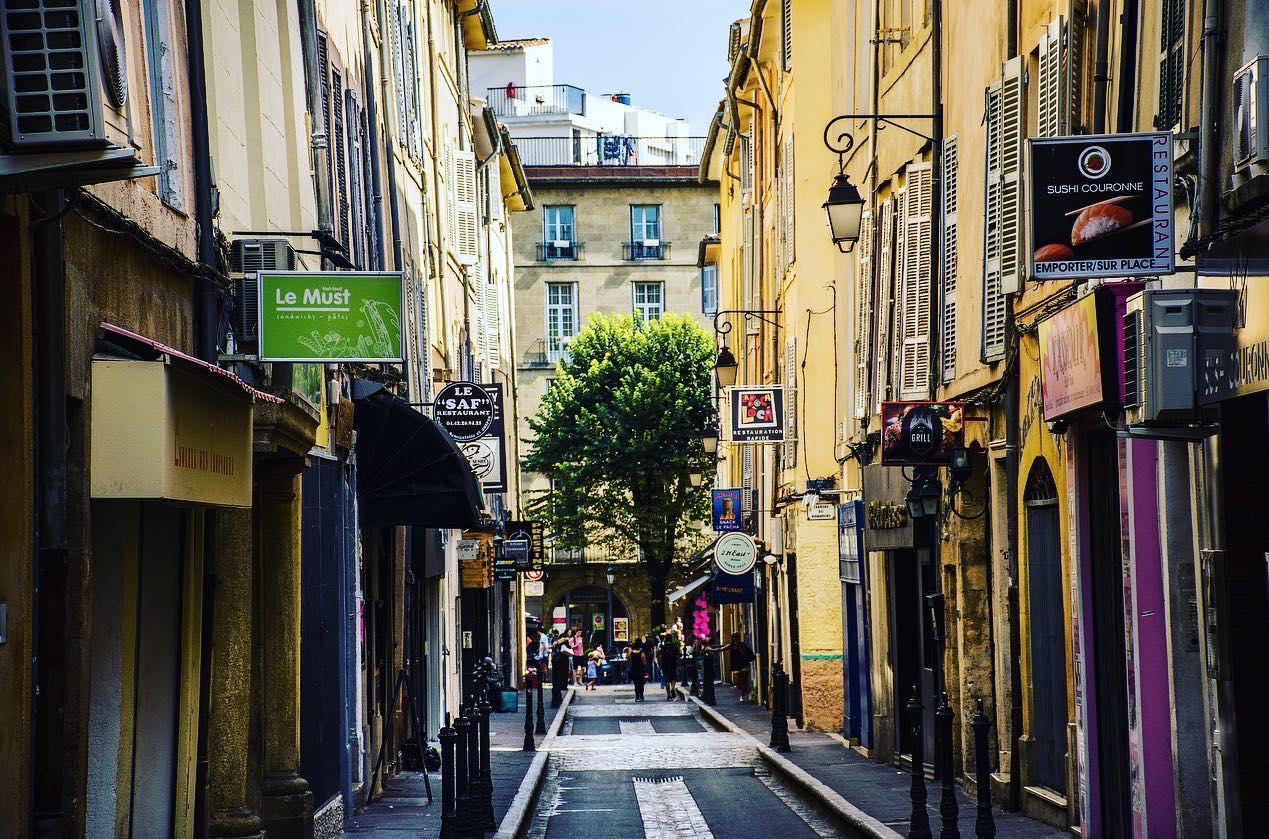 Street scene in Aix-en-Provence