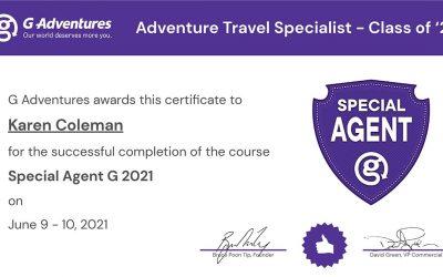Adventure Travel Specialist Certification