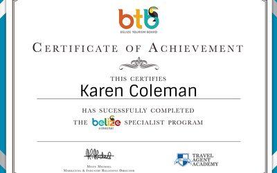 Belize Specialist Certification
