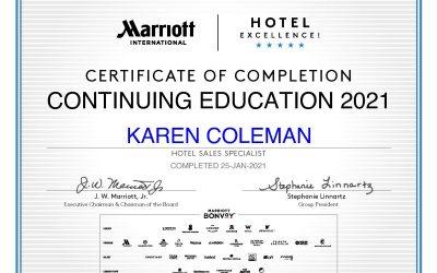 Marriott Hotel Excellence Certification