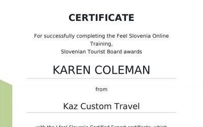 Slovenia Expert Certification