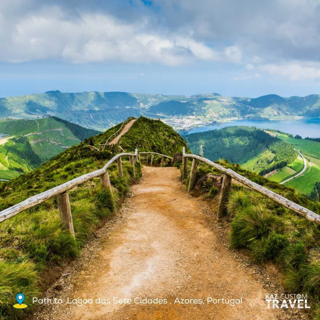 Path to  Lagoa das Sete Cidades , Azores, Portugal